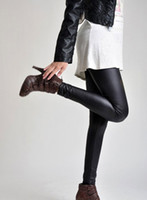 Women Skinny,Slim Other Korea Sexy Black Wet Look Faux Leather Leggings Treggings pants Shiny Tights One size#2604