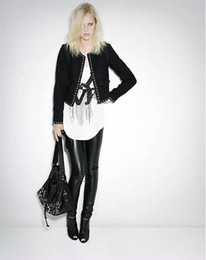 Wholesale Sexy Black Wet Look Faux Leather Leggings Treggings Pants Shiny Tights One size