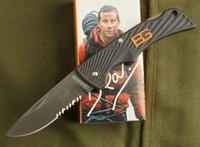 Wholesale Excellent quality GERBER Bear Grylls Scout Knife Camping Folding knife Half Serrated Blade Knives