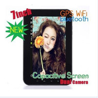 Wholesale 7 Capacitive Screen Dual core Android phone GPS WiFi Camera Tablet pc MTK6573 F8 A9100 DHL
