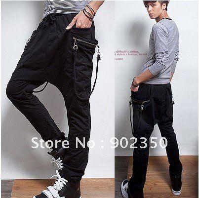 2017 Men's Pants Fashion Casual Pants Loose Sarrouel Pants Big ...