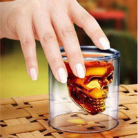 Wholesale Piece New Crystal Skull Cup Borosilicate Glass Tea Cups Travel Cup