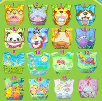 Wholesale Hot Large Baby PVC Cartoon Bibs Feeding Toddler Bib Pinny Pinafore Pinnies Smocks Saliva Towel Shawl