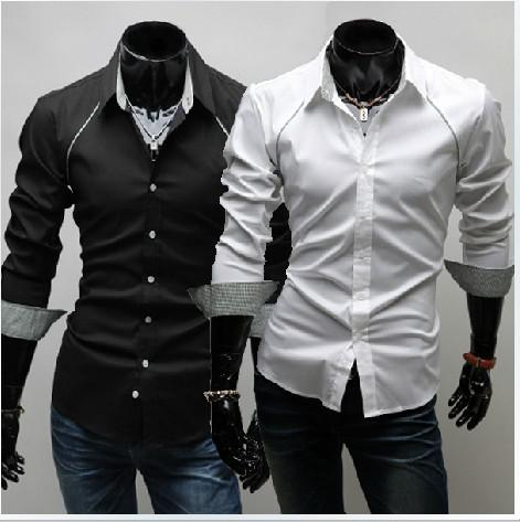 2017 2012 New Fashion Men Shirts Men Shirt Casual Long Sleeved ...