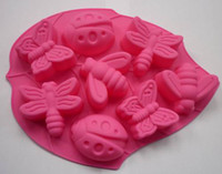 Wholesale 8 type hole Butterfly Silicone DIY Chocolate Jelly molds Cake molds Tray China Post Soap Mould Tray