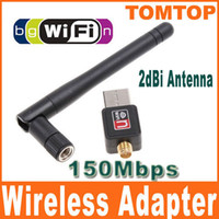 Wholesale Mini M Mbps USB WiFi Wireless Network Card n g b LAN Adapter with Antenna C1289