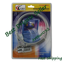 Wholesale Brand New Safeguard Notebook Laptop Security Cable Combination Lock Silver