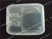 Wholesale Transparent Memory Card Case Protector Hard Box For SD T Flash TF Card Case Plastic Box pc