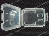 Wholesale Memory Card Case Protector Box For SD T Flash card Case Plastic Box pc