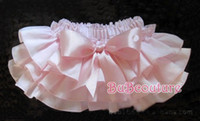 Wholesale New Baby Ruffled Bloomer with BOW Infant Girl Skirt with Diaper Cover Color Size