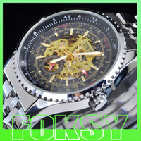 Wholesale Automatic hollow men watch Men s mechanical watches Stainless steel Luxury watch by foksy
