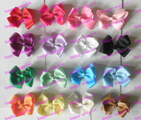 Wholesale Grosgrain Bows with double prong clips covered hairpin Bows Baby Hair bow ribbon bows hairband