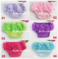 2T-3T baby short stock - 2012 New In Stock Baby Lace Chiffon Ruffled Bloomer Infant Girl Short Skirt Pantie Nappy Cover