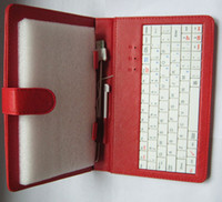 For Apple amazon holsters - Keyboard holster red color quot Leather Case with usb keyboard for Tablet PC