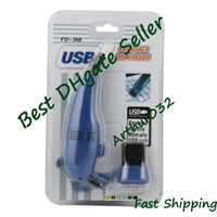 Wholesale Super Cool USB Mini Vacuum Keyboard Cleaner For Laptop Computer PC Blue FD