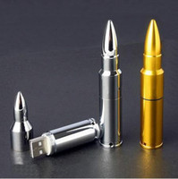 Wholesale Genuine GB GB GB Metal Bullet Shape USB Memory Stick Flash Drive