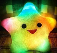 Wholesale Cute Colorful Illuminated Star Shaped LED Cushion Throw Pillow Novelty Gifts