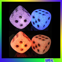 Wholesale Hot sale Crystal dice night lights creative colorful personality LED lights energy WEIL