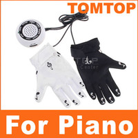 Wholesale Electronic Piano Playing Hand Gloves Exercise Instrument Keyboard Musical Game I20