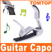 Wholesale 2pcs High Quality Aluminium alloy Quick Change Tune Clamp Key Capo For Electric acoustic Guitar I59S