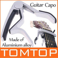 Wholesale High Quality Aluminium alloy Tune Quick Change Clamp Key Capo For Electric acoustic Guitar I59S