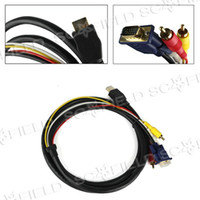 Wholesale 6FT HDMI HDTV to VGA RCA Converter Adapter Cable P for Tablet PC Cube U9TG2 Onda VI40 Wopad