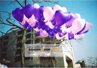 Wholesale Latex Assorted Purple Heart Balloon Wedding Favor Party Decorations New