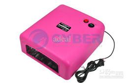 Wholesale UV Lamp Dryer w Gel Curing Nail x w Tube Light Bulbs Rose V US Plug x