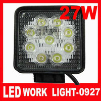 Wholesale Top quality w LED Work Light Wide Flood Beam Light Offroad Lamp Truck SUV ATV Square shape
