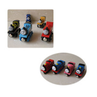 Wholesale 10pc Baby Vehicle Toy Tomas and Friends Train Toy Magnic Car Children Gift Wooden Tomas Toy