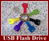Wholesale Real GB GB GB GB USB Flash Drive Key Style Flash Memory U Disk Flash Disk Memory Stick pc