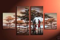 100% Artisanat immense toile PEINTURE À L'HUILE MODERNE ABSTRAIT, Couple romantique