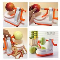 Wholesale 2pcs Convenient Plastic Apple peeler kitchen assistant Fruit peeler Fruit Tools Apple Skin Peeler