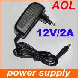 2017 12v ac chargeur Alimentation pour 3528 SMD LED Light Strip 100V- 240V AC / DC 12V / 2pcs Chargeur adaptateur 2A Puissance 12v ac chargeur offres
