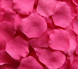 2000 pcs hot pink silk rose petal petals wedding favors party decoration high quality new