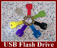 Wholesale Key Style USB Flash Drive Real GB U Disk Flash Disk Memory Stick DHL EMS For