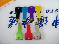 Wholesale Key Style USB Flash Drive Real GB U Disk Flash Disk Memory Stick Retail Package For Sample