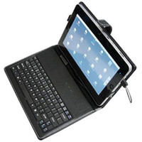 Wholesale Leather Case With USB Keyboard For inch Tablet PC EPad X220 FlyTouch3 Zenithink ZT Ipad2