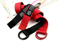 Wholesale 2012 New CANVAS BELTS STAYREAL Canvas Military Web Style Belt Waist Unisex Belts Black amp Red