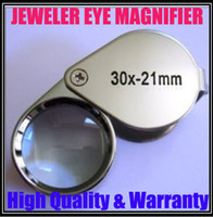 Wholesale 30 x mm Jeweler Loupe Eye Magnifying Glass Magnifier With Protective Case New Good Quality