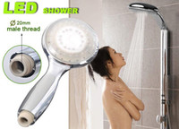 Wholesale Temperature Detectable LED Lights Color or color jump change Water Faucet Shower Head NO Battery