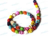 Wholesale 200Pcs Mixed Skull Turquoise Gemstone Loose Beads Fit Bracelet Necklace DIY x12x10mm