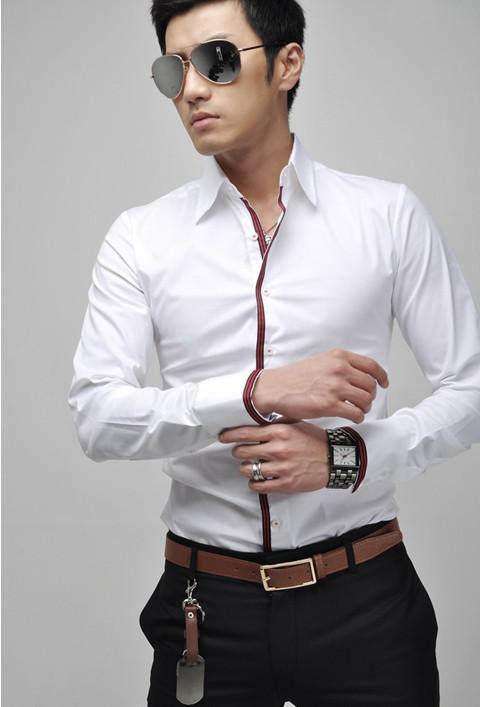 2017 cheap fashion slim fit formal man 39 s shirt stylish for Cheap slim fit shirts