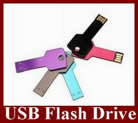 Wholesale Colorful Key Style USB Flash Drive Real GB Memory Stick For Retail Box