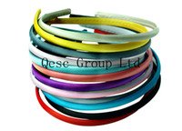 Wholesale 7mm satin headband ideal for sinamay fascinators or hair ornament colors