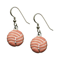 Wholesale fashion jewelry new design earrings Silver Enameled Volleyball Earrings by First String Jewelry
