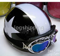 Wholesale Scooter Half Vespa Motorbicycle Open Face Black Helmet Color Goggles For Free