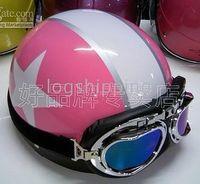 Wholesale ON SALE Scooter Half Vespa Motorbicycle Casco Casque Helm Half Face Cycling Pink Helmet Casco Goggles M L XL