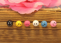 Wholesale Sweet jelly smiley earrings candy colored earrings smiley face earrings multi color pair