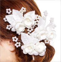 Wholesale Wedding Flower Set Tiaras PP0207 Hair Wrist Flower Bridal Crown Bridal Head Flower Bridal Headdress